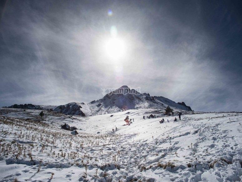 Nevado de Toluca with snow