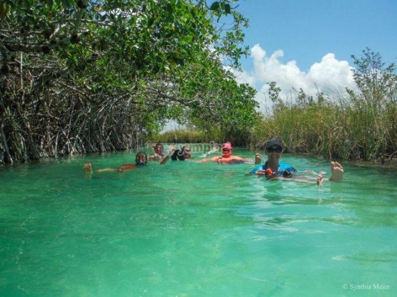 Nado en cenote
