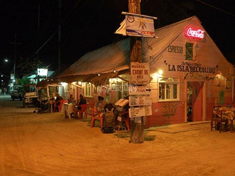 Pequeno pueblo en Holbox