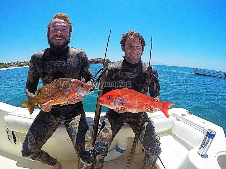 Pesca de peces pargos