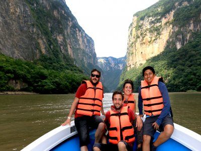Motorboat, view and canyon tour 8h Chiapas Adults