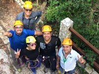 Rappelling with friends