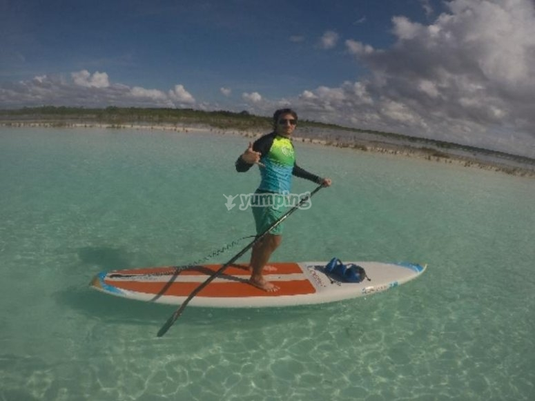 Paddle in Bacalar
