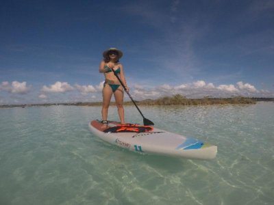 Paddle tour with breakfast in Laguna Bacalar kids
