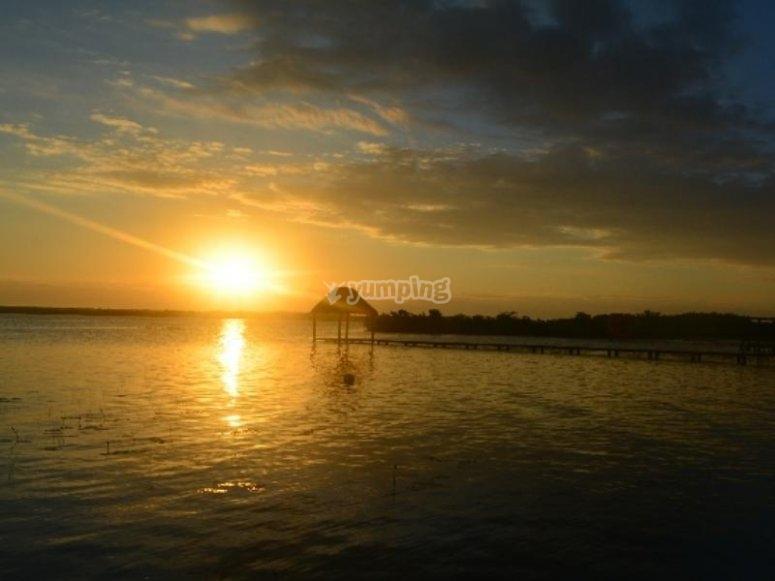 Sunset in Bacalar