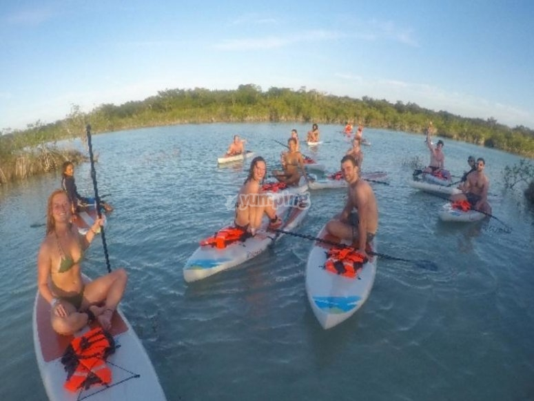 Paddle with friends