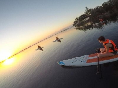 Tour Paddle en Laguna Bacalar al Atardecer Niños