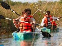 Disfrutando de los kayaks  con amigos