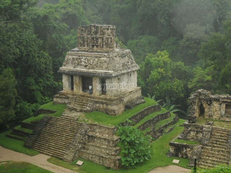 Palenque from above