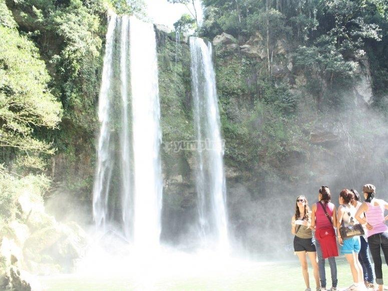 huge waterfalls