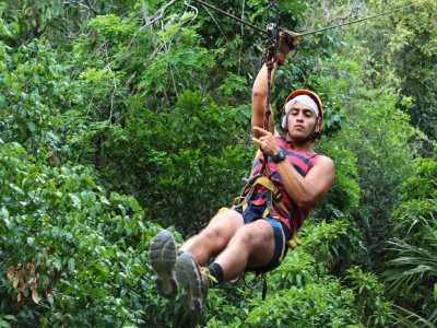 7 zip line circuit and swim in cenote