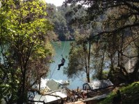 Zip line in michoacan