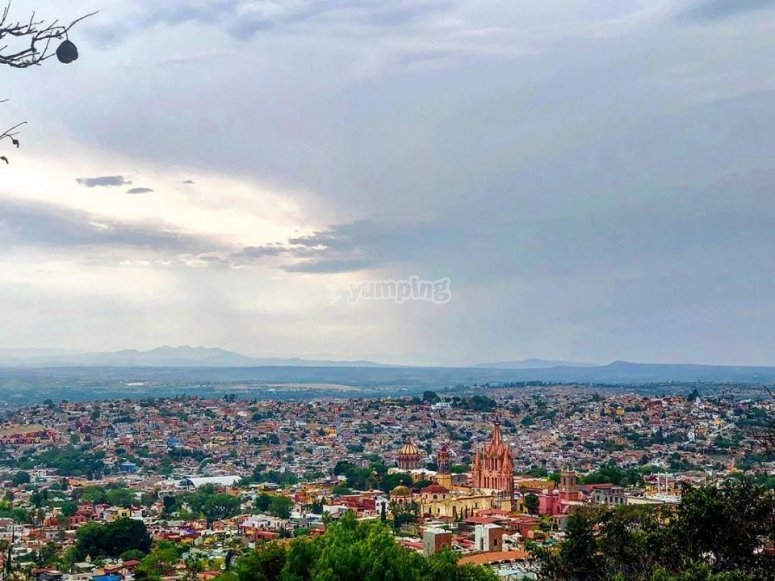 Panoramic view from the Cerro del Meco