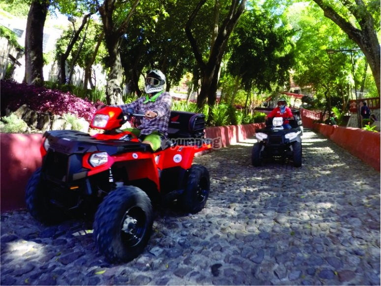 The best way to get to know San Miguel de Allende is in Cuatrimoto