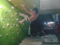 escalando en el gym