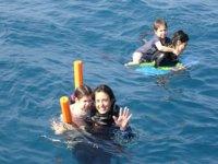 Nadando en familia