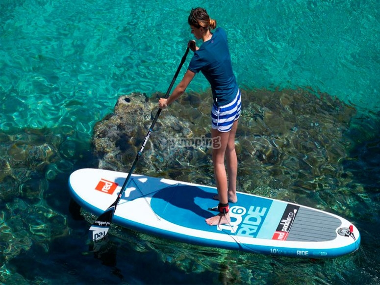sesión de paddle