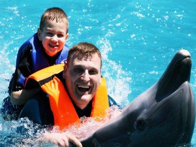 Nado con delfines 1 adulto y 1 niño en Guadalajara