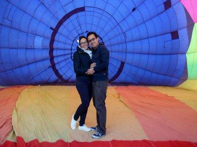 Vuelo privado en globo romántico en Tlaxco