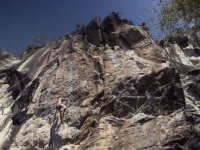 Climbing in Los Pericos on the shores of Laguna de Valsequillo