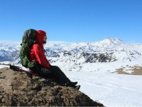 Unique sensation of reaching the summit