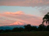 Beautiful sunrise of Pico de Orizaba