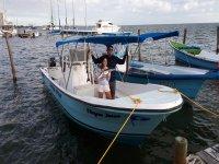 Snorkel barco privado 29 ft Isla Mujeres 4 horas