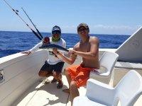 Sillas de pesca en barco