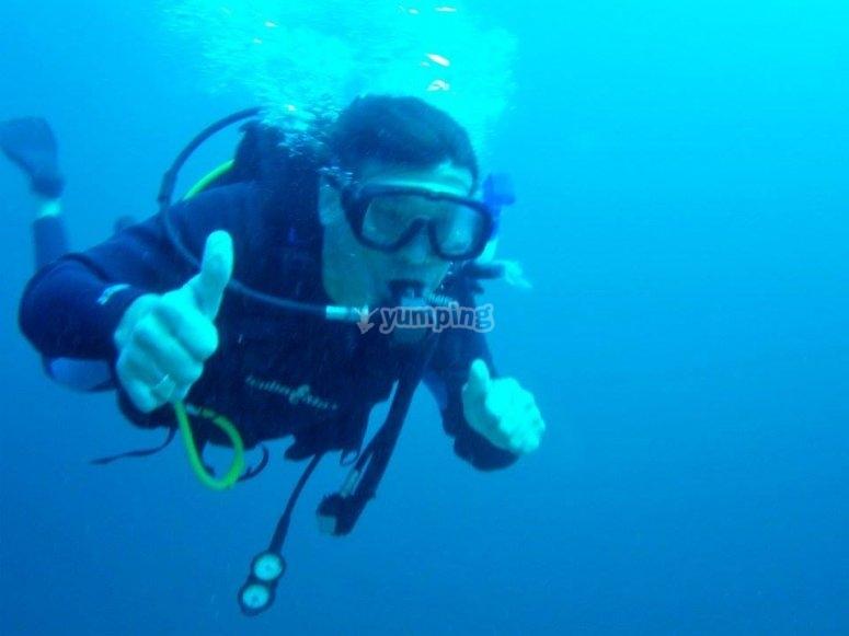 Una gran experiencia bajo el agua