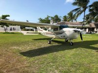 Light aircraft flight over Caribbean Mexico 15 min