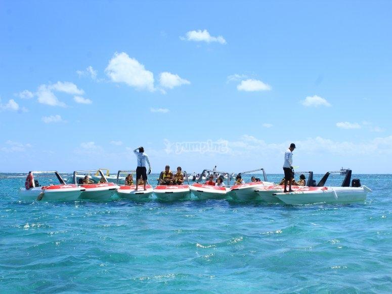 A punto de hacer snorkel