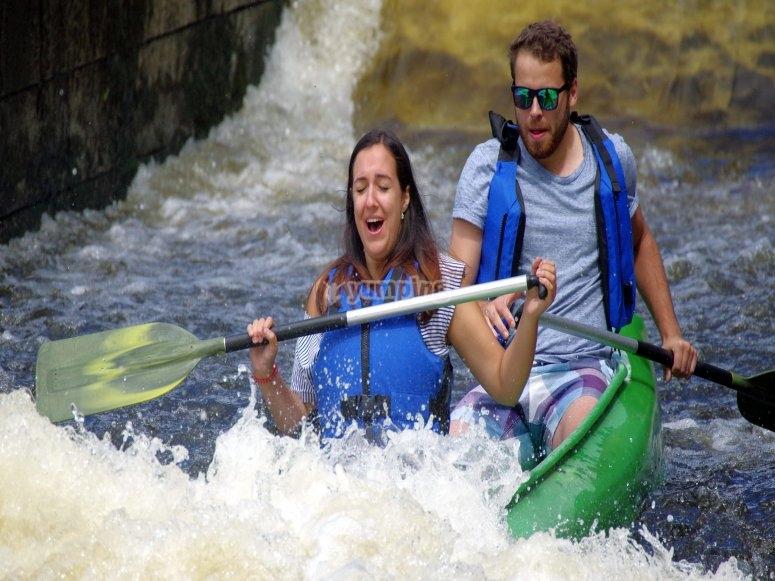 Kayaking in pairs