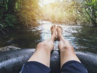 Relájate mientras navegas a bordo de tu llanta