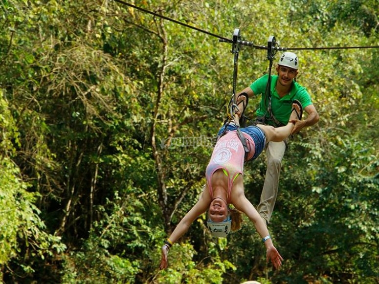 Have fun in our zip line