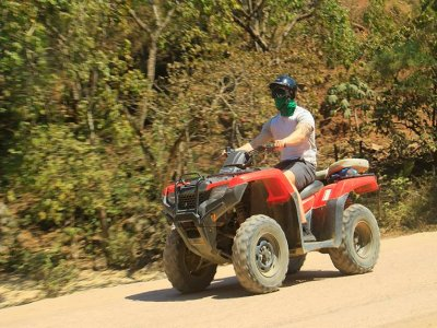 ATVs in Sierra Madre with zip line circuit