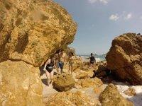 Ruta en lancha y snorkel en Playa Nopalera 2 horas