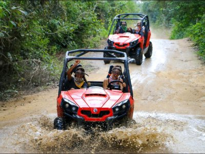 Jungle route in Playa del Carmen buggys with snorkeling