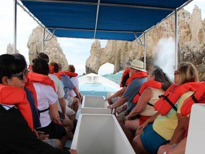 Paseo lancha fondo cristal Cabo San Lucas 1 hora