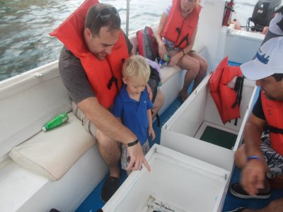 Glass-bottom boat trip for kids in Los Cabos