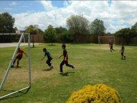 Futbol en el campamento