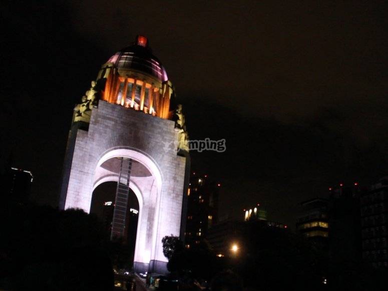 Monuments at night