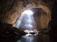 Caving in Underground River near Taxco
