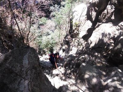 Canyoning of volcanoes in the State of Mexico