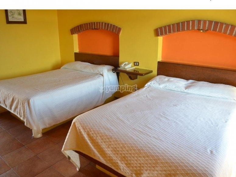 Habitacion doble del hotel Cuamanco