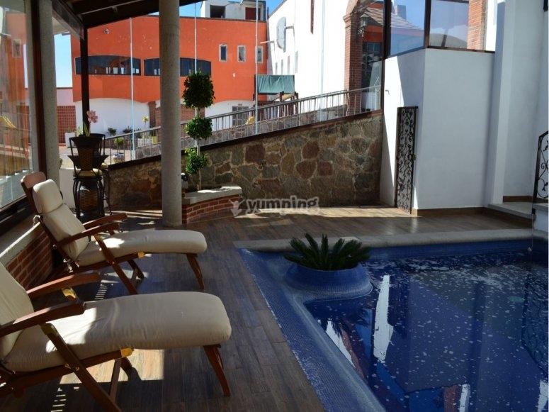 Piscina del hotel en Huamantla