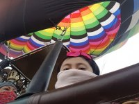 Small passenger in the balloon