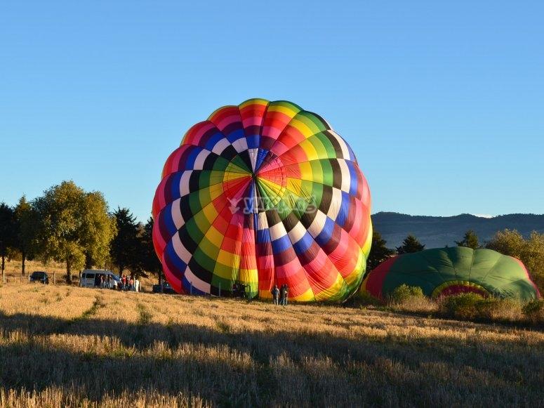 Balloon inflation in Huamantla