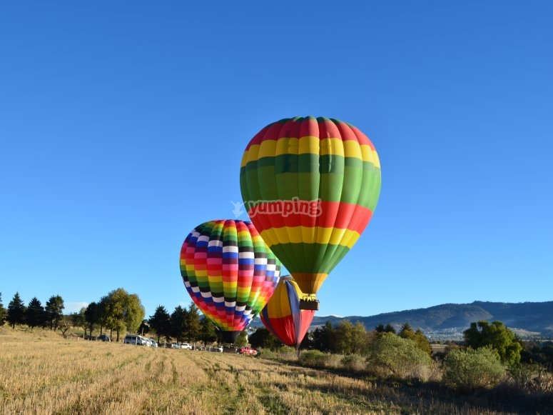 Different designs in hot air balloons