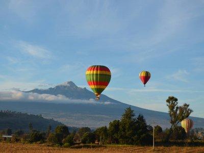 Balloon flight and night in ranch Huamantla