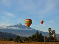 Flying near the volcanoes